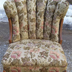Yellow Chair Reupholstered