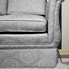 Circular Pattern Fabric Revives Couch